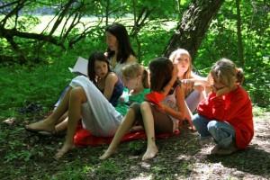 Kindercamp im Freien